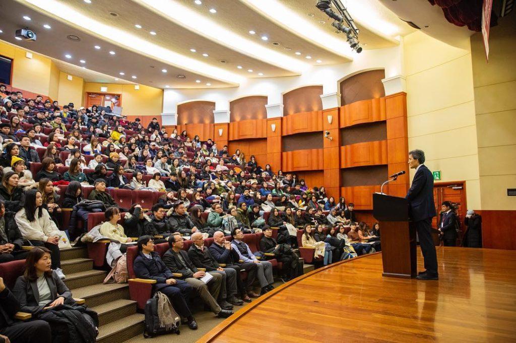 Một buổi thuyết giảng tại đại học Korea